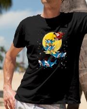 Santa-Claus-Riding-Shark-Christmas Classic T-Shirt lifestyle-mens-crewneck-front-11