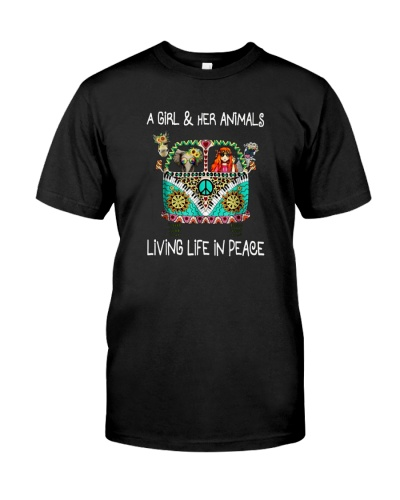 A-girl-and-her-animals-living-life-in-peace-shirt