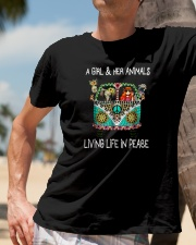 A-girl-and-her-animals-living-life-in-peace-shirt Classic T-Shirt lifestyle-mens-crewneck-front-11