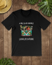 A-girl-and-her-animals-living-life-in-peace-shirt Classic T-Shirt lifestyle-mens-crewneck-front-18