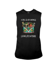 A-girl-and-her-animals-living-life-in-peace-shirt Sleeveless Tee thumbnail