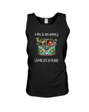 A-girl-and-her-animals-living-life-in-peace-shirt Unisex Tank thumbnail