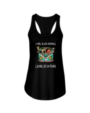 A-girl-and-her-animals-living-life-in-peace-shirt Ladies Flowy Tank thumbnail
