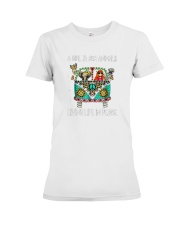 A-girl-and-her-animals-living-life-in-peace-shirt Premium Fit Ladies Tee thumbnail