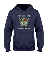 A-girl-and-her-animals-living-life-in-peace-shirt Hooded Sweatshirt thumbnail