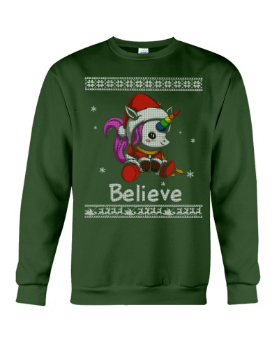 Believe Unicorn Christmas Shirt