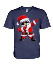 Dabbing Santa Claus Christmas V-Neck T-Shirt thumbnail