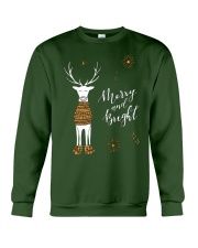 Merry and Bright Deer Shirt Crewneck Sweatshirt front