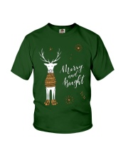Merry and Bright Deer Shirt Youth T-Shirt thumbnail