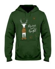 Merry and Bright Deer Shirt Hooded Sweatshirt thumbnail