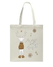 Merry and Bright Deer Shirt Tote Bag thumbnail