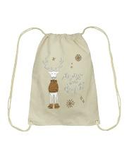 Merry and Bright Deer Shirt Drawstring Bag thumbnail