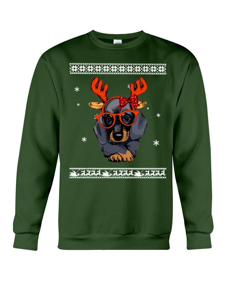 CHRISTMAS DOG Shirt Crewneck Sweatshirt