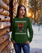 CHRISTMAS DOG Shirt Crewneck Sweatshirt lifestyle-holiday-sweater-front-1
