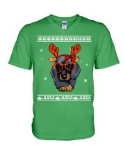 CHRISTMAS DOG Shirt V-Neck T-Shirt thumbnail