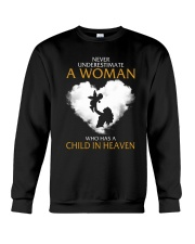 A Woman Who Has A Child In Heaven Crewneck Sweatshirt thumbnail