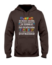 Autism Just Because I Am Verbal  Hooded Sweatshirt thumbnail