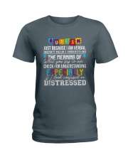 Autism Just Because I Am Verbal  Ladies T-Shirt thumbnail