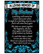 In Loving Memory Of My Husband Poster 16x24 Poster front