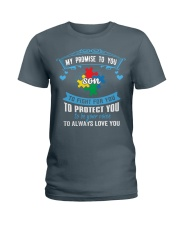 My Promise To You To Fight For You - Autism Mom Ladies T-Shirt thumbnail