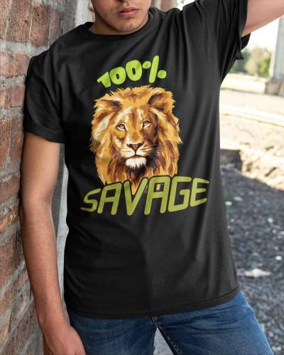 100 savage lion shirt