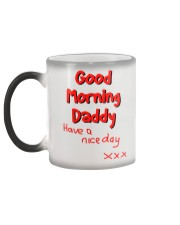 Good Morning Daddy - colour changing mug Color Changing Mug color-changing-left