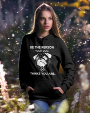 BE THE PERSON YOUR DOG THINKS YOU ARE - KINGSMAN Hooded Sweatshirt lifestyle-holiday-hoodie-front-5