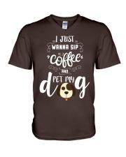 Dog T-shirts V-Neck T-Shirt thumbnail