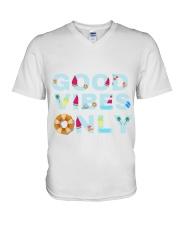 Good vibes only V-Neck T-Shirt thumbnail