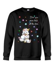 I love you more than all the stars Unicorn Mom kid Crewneck Sweatshirt thumbnail