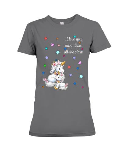 I love you more than all the stars Unicorn Mom kid