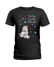 I love you more than all the stars Unicorn Mom kid Ladies T-Shirt thumbnail