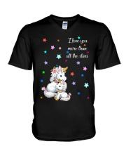 I love you more than all the stars Unicorn Mom kid V-Neck T-Shirt thumbnail