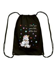 I love you more than all the stars Unicorn Mom kid Drawstring Bag thumbnail