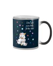I love you more than all the stars Unicorn Mom kid Color Changing Mug thumbnail