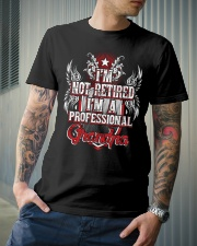 Grandparents Granpa Not Retired Classic T-Shirt lifestyle-mens-crewneck-front-6