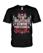 Grandparents Granpa Not Retired V-Neck T-Shirt thumbnail
