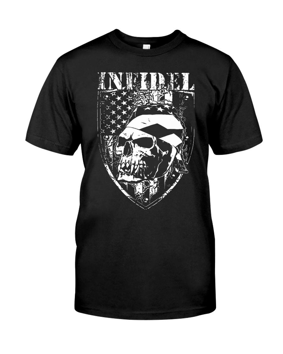 Gun Right Infidel Skull Do Rag Classic T-Shirt