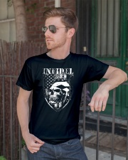 Gun Right Infidel Skull Do Rag Classic T-Shirt lifestyle-mens-crewneck-front-2