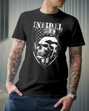 Gun Right Infidel Skull Do Rag Classic T-Shirt lifestyle-mens-crewneck-front-6