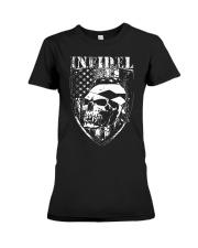Gun Right Infidel Skull Do Rag Premium Fit Ladies Tee thumbnail