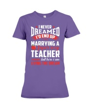 Marrying a Supersexy Teacher Premium Fit Ladies Tee thumbnail
