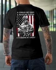 Veteran - Child of God Classic T-Shirt lifestyle-mens-crewneck-back-3