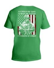 Veteran - Child of God V-Neck T-Shirt thumbnail