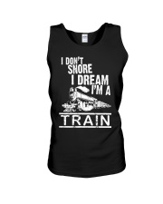 I Don't Snore I Dream I'm A Train Unisex Tank thumbnail