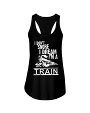 I Don't Snore I Dream I'm A Train Ladies Flowy Tank thumbnail