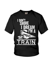 I Don't Snore I Dream I'm A Train Youth T-Shirt tile