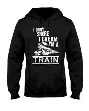 I Don't Snore I Dream I'm A Train Hooded Sweatshirt tile