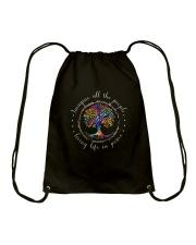 People Living Life In Peace Drawstring Bag thumbnail
