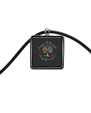 People Living Life In Peace Cord Rectangle Necklace thumbnail